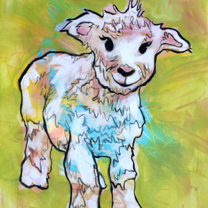 Little Lamb.  12x16 in.  Acrylic on canvas.  2017.  $250.